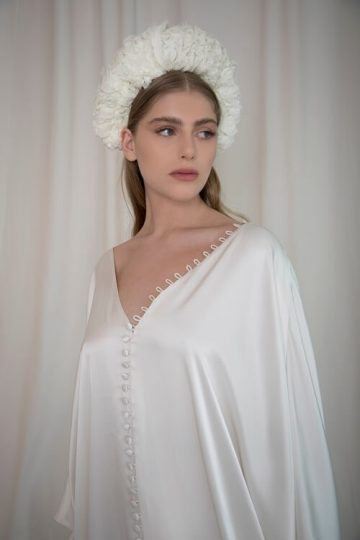 thousand layers of chiffon headpiece