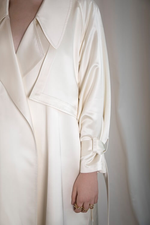fitted wrapped trench coat
