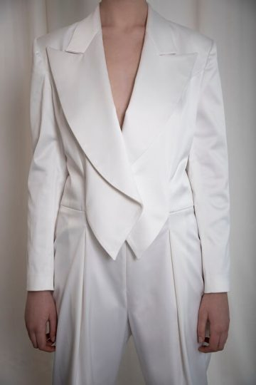 tailored double-breasted jumpsuit